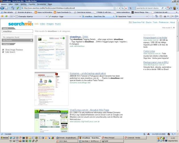 SearchMe no modo lite.